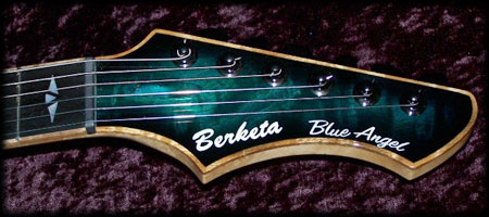 Blue Angel electric guitar headstock